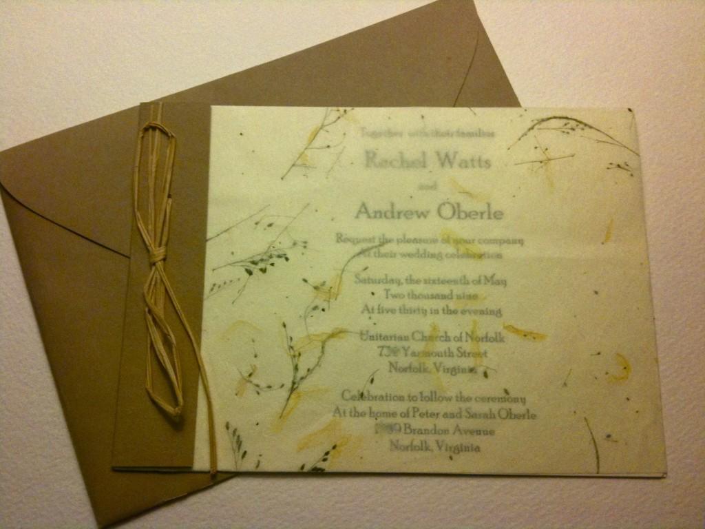 IMG_01532 1024x768 karas cakery blog \u203a paper!,Handmade Paper Wedding Invitations