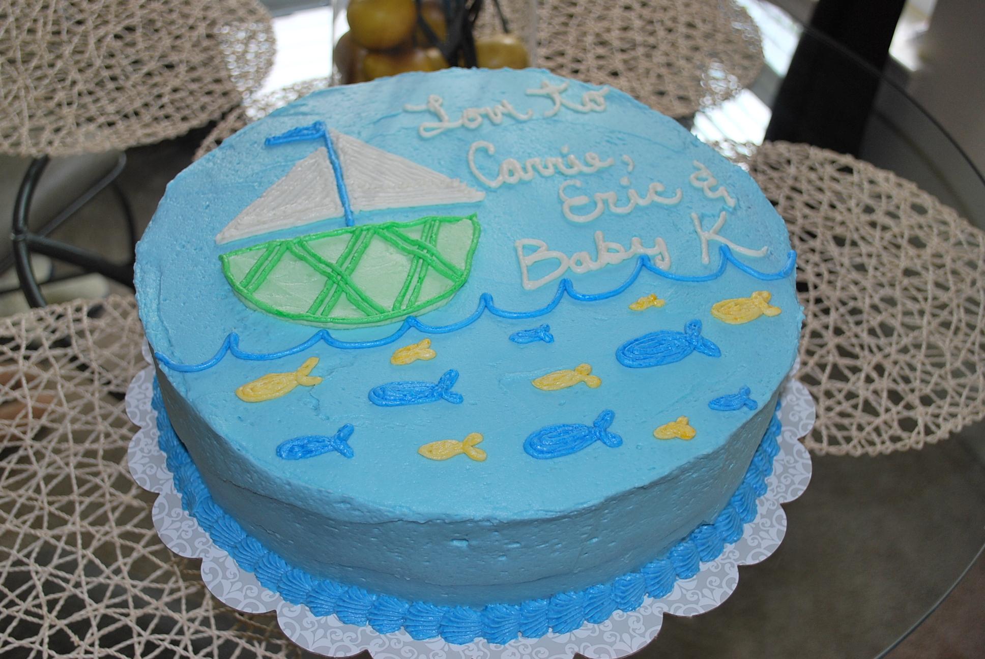 Karas Cakery Blog › sailboat baby shower cake